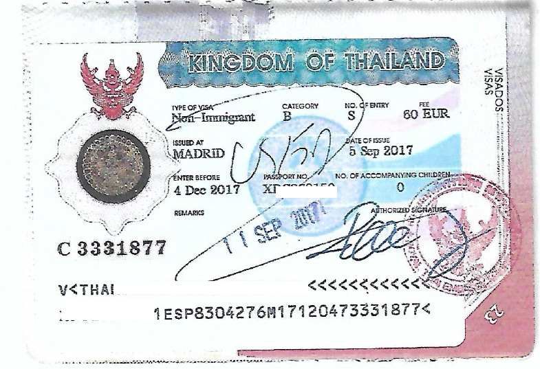 Overview of Passport Stamps - From Thai Immigration
